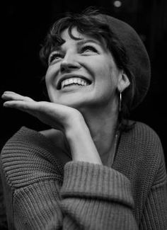 happy by Marta Syrko - Photo 226298911 / Happy People Photography, Face Photography, White Photography, Laughing Face, Pose Reference Photo, Face Expressions, Black And White Portraits, Portrait Inspiration, Beautiful Smile