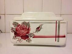 Ancienne boite à biscuits Digoin Service La Rose