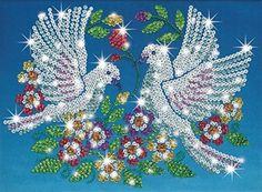 Sequin Art and Beads Doves [Toy]