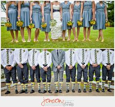 1) I love the bridesmaid dresses  2) I wish Jon would wear crazy socks like this  3) These pictures are worth a look.  :)