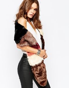 New Look Neopolitan Fur Stole
