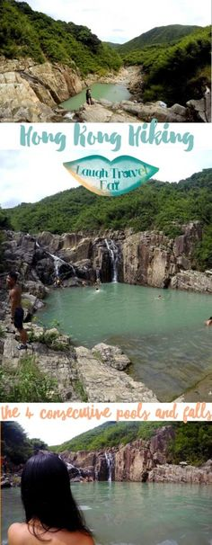 The 4 consecutive pools and falls in Sai Kung, Hong Kong are famed for its gorgeous setting and the possibility of cliff jumping. One of the most popular hiking destinations in Sai Kung, the pools (which has a much shorter and elegant name in Chinese, I p Macau Travel, China Travel, Italy Travel, Destination Voyage, Vacation Spots, Adventure Travel, Places To See, Hong Kong, Travel Destinations