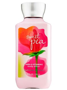 Sweet Pea Body Lotion - Signature Collection - Bath Body Works-A bright optimistic fragrance, Sweet Pea is an award-winning mix of juicy raspberries pear kissed by soft pink petals Bath N Body Works, Bath And Body Works Perfume, Body Wash, Body Lotions, Body Spray, Smell Good, Shower Gel, Baby Shower, Travel Size Products