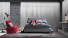 Pat tapitat cu spatiu de depozitare Belmondo #homedecor #interiordesign #inspiration #bedroomdecor #luxury Floor Chair, Couch, Flooring, Interior, Modern, Furniture, Design, Home Decor, Settee