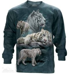 MUST HAVE! The Mountain - White Tiger Collage Long Sleeve Tee, $30.00 (http://shop.themountain.me/white-tiger-collage-long-sleeve-tee/)