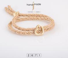 Βραχιόλι με σπάγκο κορδόνι και χρυσή καρδιά. #handmade #jewelry #fashion