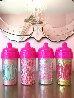 Glitter Sippy Cups 10 oz Toddler Cup by KennedyClairesCloset