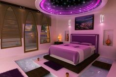 An outer space dream room - So incredible.  This room will be mine one day...if I win the lottery, I guess... :/