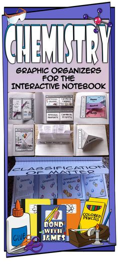 Graphic organizers for the chemistry interactive notebook. #chemistry