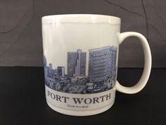 Starbucks Mug 2006 Architecture Fort Worth TX Cowtown 18 oz Coffee Tea Cup  #Starbucks