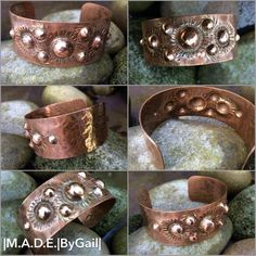 Items similar to Chased and repousse, solid copper cuff bracelet on Etsy Copper Cuff, Copper Bracelet, Metal Bracelets, Copper Jewelry, Leather Jewelry, Handmade Bracelets, Rustic Jewelry, Wire Jewelry, Handmade Jewelry