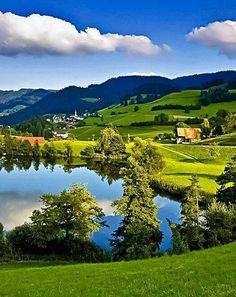 The light is so clear and bright in Switzerland.
