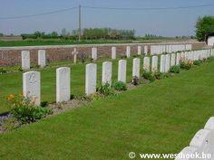 alle gesneuvelde soldaten kwamen hier te liggen, een grote begraafplaats