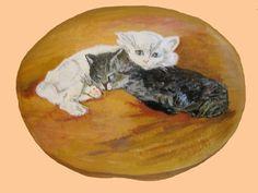 Peinture galets - Les frères