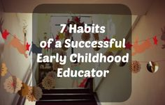 Habits of a Successful Early Childhood Habits of a Successful Early Childhood Educator 50 scenarios and role-playing situations by YourSkypeSchool Educational Activities For Preschoolers, Teaching Activities, Craft Activities For Kids, Classroom Activities, Craft Ideas, Teaching Strategies, Preschool Ideas, Classroom Ideas, Early Childhood Education Programs