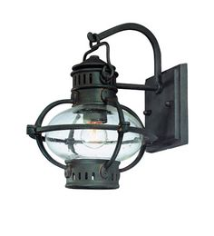 Portsmouth Barn Lantern, Boston Bronze w/ Rust Accents from barn light electric (exterior light)