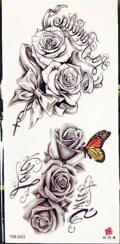 half sleeve tattoo generator #Halfsleevetattoos Tattoos Skull, Neck Tattoos, Best Sleeve Tattoos, Foot Tattoos, Body Art Tattoos, Rose Tattoo Sleeves, Tattoo Roses, Cross Tattoos, Maori Tattoos