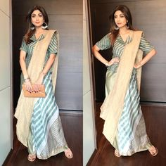Looking for collar blouse designs for your sarees? Here are our picks of 13 amazing blouse designs you can wear with any saree. Sari Design, Sari Blouse Designs, Modern Blouse Designs, Blouse Patterns, Saree Draping Styles, Saree Styles, Indian Designer Outfits, Indian Outfits, Designer Dresses