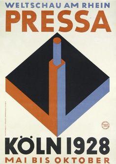 By René Binder & Max Eichheim, 1928,  Pressa Weltschau am Rhein. (G)