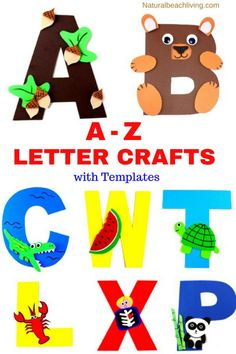 The Best Letter of the Week Crafts for Toddlers, Preschoolers, and Kindergarten, Letter of the Week Preschool Letter Crafts, Alphabet Letter Crafts, Abc Crafts, Toddler Crafts, Preschool Crafts, Alphabet Book, Crafts Toddlers, Spanish Alphabet, Letter Tracing