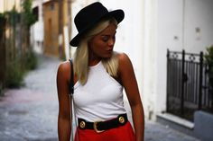 back to front tee + hat via via Angelica Blick