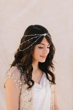 Harlow Bridal Headband, Austrian Crystals, 1930's Vintage Halo, Bohemian Bridal Hair Piece, Wedding Headpiece, Ships in 1 Month on Etsy, $118.00