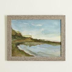 Seascape Watercolor Framed Print #birchlane