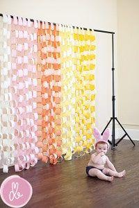DIY Cheap & Easy Photo Backdrop Ideas