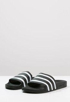ADILETTE - Sandals - black/white
