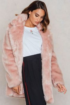 Colored Faux Fur Coat