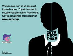{Image courtesy of ThyCa} I hope you will all join me in welcoming September and raising awareness for thyroid cancer this month. As you may remember from last year, September is Thyroid Cancer Awa… Thyroid Disease Symptoms, Thyroid Nodules, Thyroid Health, Hypothyroidism, Thyroid Cancer Awareness, Thyroid Problems, How To Get Rid, Health And Wellness, Raising