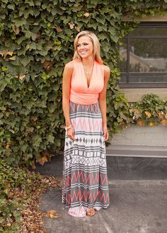 Online boutique. Best outfits. The Fire Within Me Maxi - Modern Vintage Boutique
