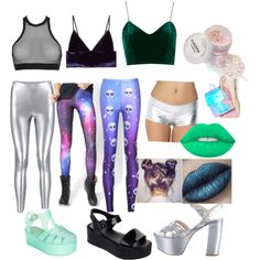 DIY Alien Halloween costume by caitirish on Polyvore featuring Topshop, Dsquared2, WithChic, Chicnova Fashion, T By Alexander Wang, Melissa, Wanted, Prada, Skinnydip and Lime Crime