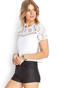 Textured Crochet Top | FOREVER21 #SummerForever
