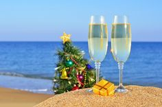 happy new year on the beach | decorations, new year, holidays, hat, merry christmas, happy new year ...