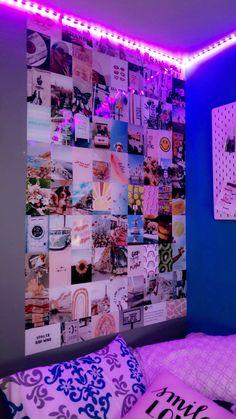 Cute Bedroom Ideas, Room Ideas Bedroom, Bedroom Decor, Indie Room Decor, Aesthetic Room Decor, Wall Collage Decor, Chill Room, Kawaii Room, Room Goals