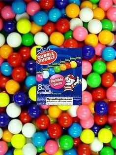 "1200 Dubble Bubble Fresh Bulk Retro Mini 1/4"" Gumballs New Just $22.99 #nvcandy"