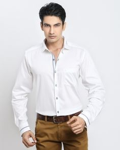 3e9a0b373 WHITE WITH LINING SHIRT Jaihind Retail