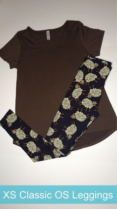 LuLaRoe Outfit. XS Classic T and OS Leggings with sheep on them!  Come shop with me: LuLaRoe Jill Drexhage