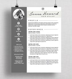 "Resume Template | CV Template + Cover Letter | Modern Resume Designs | Mac or PC | Fully Customizable (""Palisades"")                                                                                                                                                                                 More"