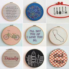 embroidery hoop art | How Do It Info
