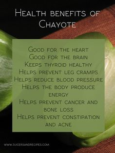 What Is Chayote Good For?