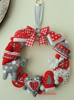 Felt Wreath, Christmas Wreath, Christmas Felt Home Decor Decoration Ornament, Felt Gingerbread, Christmas Party Decor, Christmas Wall Decor