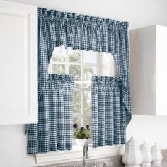 kitchen curtains - something similar but in red