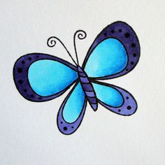 butterfly drawings drawing simple markers butterflies copic easy blend tutorial draw colour coloring step darker using paper blending same colors