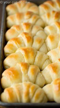 The best rolls in the world. World's Best Potato Rolls... I'm not kidding.