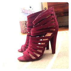 Asos maroon strappy sandals Hardly worn heels perfect for a night out ASOS Shoes Heels