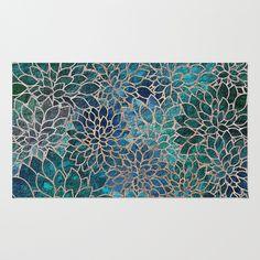 Floral Abstract 4 Rug by Klara Acel - $28.00