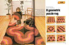Manic Pop - Retro Fashion Design Blog: The Lost Art of Rug Hooking