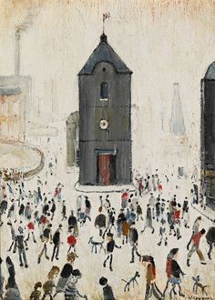 LS Lowry paintings owned by Cilla Black to be auctioned Cilla Black, Black Church, English Artists, British Artists, Classic Paintings, Banksy, Best Artist, Teaching Art, The Guardian